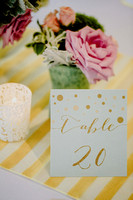 Lovely Table Numbers and Decor